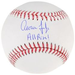 "Aaron Judge Signed Baseball Inscribed ""All Rise!"" (Fanatics Hologram)"