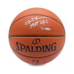 """Allen Iverson Signed LE Basketball Inscribed """"MVP 2K1"""" (UDA COA)"""
