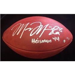 "Marcus Mariota Signed LE Official NFL Game Ball Inscribed ""Heisman '14"" (Steiner COA  Mariota Hologr"
