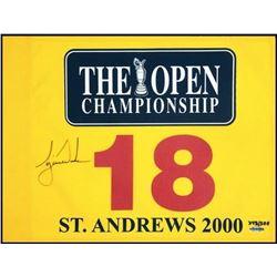 "Tiger Woods Signed LE ""2000 British Open"" Pin Flag (UDA COA)"
