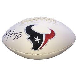 DeAndre Hopkins Signed Texans Logo Football (JSA COA)