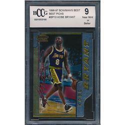 1996-97 Bowman's Best Picks #BP10 Kobe Bryant (BCCG 9)