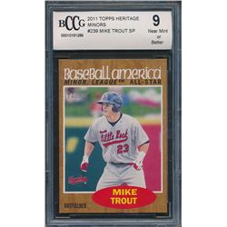 2011 Topps Heritage Minors #239 Mike Trout SP (BCCG 9)