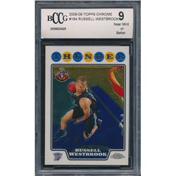 2008-09 Topps Chrome #184 Russell Westbrook RC (BCCG 9)