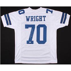 "Rayfield Wright Signed Cowboys Jersey Inscribed ""HOF 06"" (JSA COA)"