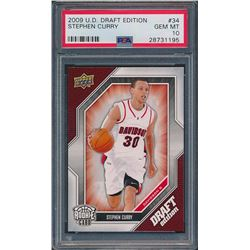 2009-10 Upper Deck Draft Edition #34 Stephen Curry RC (PSA 10)
