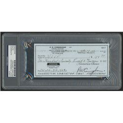 Walter Cunningham Signed 2000 Personal Bank Check (PSA Encapsulated)