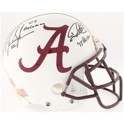 Mark Ingram  Derrick Henry Signed Alabama Crimson Tide Authentic Full-Size Helmet with Heisman Inscr
