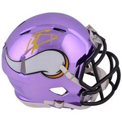Stefon Diggs Signed Vikings Chrome Mini Helmet (Fanatics Hologram)