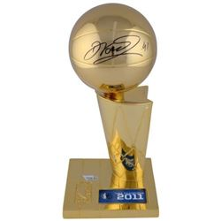 "Dirk Nowitzki Signed ""2011 Finals Champions"" Mavericks Trophy (Fanatics Hologram)"
