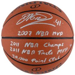 Dirk Nowitzki Signed LE Basketball With Multiple Inscriptions (Fanatics Hologram)