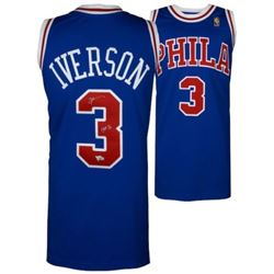 "Allen Iverson Signed 76ers Mitchell  Ness Jersey Inscribed ""HOF 16"" (Fanatics Hologram)"