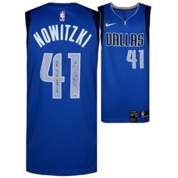"Dirk Nowitzki Signed Mavericks Jersey Inscribed ""11 Finals MVP"" (Fanatics Hologram)"