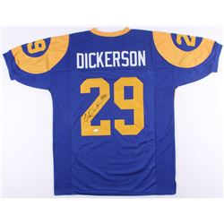 "Eric Dickerson Signed Rams Jersey Inscribed ""HOF 99"" (JSA COA)"