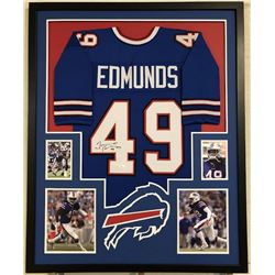 Tremaine Edmunds Signed Bills 34x42 Custom Framed Jersey (JSA COA)