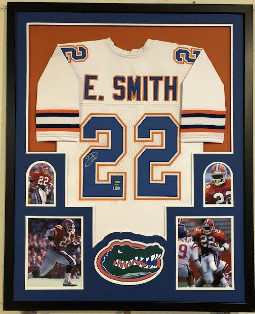 sale retailer 64817 6cb34 Emmitt Smith Signed Florida Gators 34x42 Custom Framed ...