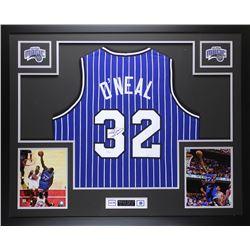 Shaquille O'Neal Signed Magic 35x43 Custom Framed Jersey (JSA COA)