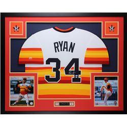 Nolan Ryan Signed Astros 35x43 Custom Framed Jersey (MLB  Ryan Hologram)