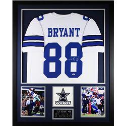"Dez Bryant Signed Cowboys 35"" x 43"" Custom Framed Jersey (PSA COA)"