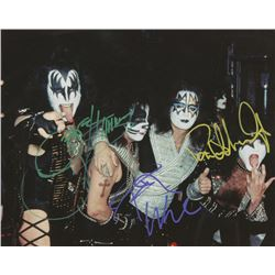 """""""KISS"""" 8x10 Photo Signed by (3) with Paul Stanley, Gene Simmons,   Peter Criss (JSA LOA)"""