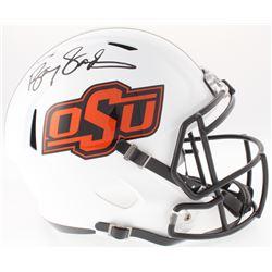 Barry Sanders Signed OSU Full-Size Speed Helmet (Schwartz Hologram)
