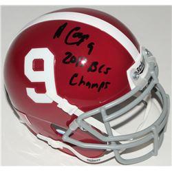 "Amari Cooper Signed Alabama Crimson Tide Mini-Helmet Inscribed ""2013 BCS Champs"" (Radtke COA)"