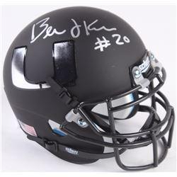 Bernie Kosar Signed Miami Hurricanes Custom Matte Black Mini-Helmet (Radtke COA)