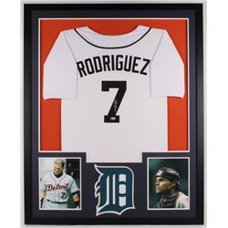 Ivan Rodriguez Signed Tigers 34x42 Custom Framed Jersey Display (Beckett COA)