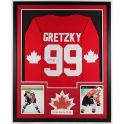 Wayne Gretzky Signed Canada 34x42 Custom Framed Jersey Display (Beckett Hologram)
