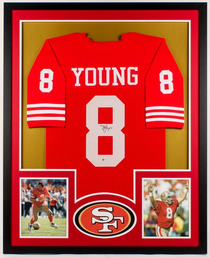 df41fc0f0d9 Image 1   Steve Young Signed 49ers 34x42 Custom Framed Jersey (Beckett COA)