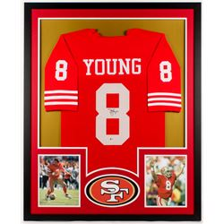 Steve Young Signed 49ers 34x42 Custom Framed Jersey (Beckett COA)
