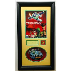 "Tim Allen  Tom Hanks Signed ""Toy Story"" 16x29 Custom Framed Display (JSA COA)"