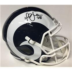Marshall Faulk Signed Rams Full-Size Speed Helmet (JSA Hologram)