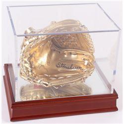 Steve Carlton Signed Rawlings Gold Glove Mini-Baseball Glove with Display Case (Beckett COA)