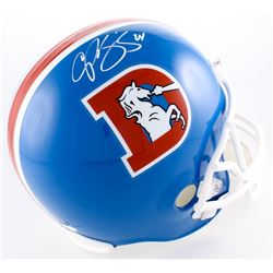 Champ Bailey Signed Broncos Full-Size Throwback Helmet (JSA COA)