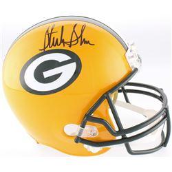 Sterling Sharpe Signed Packers Full-Size Helmet (Beckett COA)