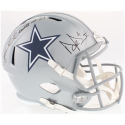 Ezekial Elliot  Dak Prescott Signed Cowboys Full-Size Speed Helmet (Radtke COA  Beckett COA  Prescot