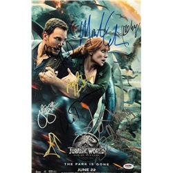 Jurassic World: Fallen Kingdom  11  x 17  Movie Poster Photo Signed by (10) with Jeff Goldblum, Bry