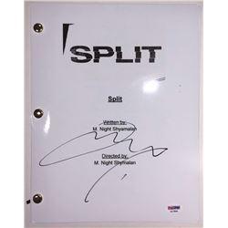"James McAvoy Signed ""Split"" Full Movie Script (PSA COA)"