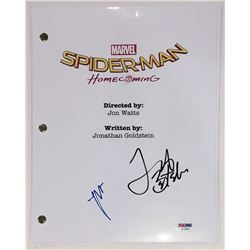"Laura Harrier and Jacob Batalon Signed ""Spider-Man: Homecoming"" Full Movie Script (PSA COA)"