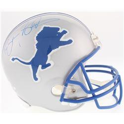 Barry Sanders Signed Lions Full-Size Helmet (Radtke COA  Schwartz Sports Hologram)