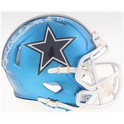 Ezekiel Elliott Signed Speed Blaze Cowboys Mini-Helmet (Beckett COA)