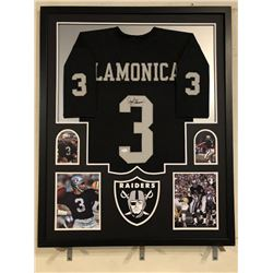 Daryle Lamonica Signed Raiders 34x42 Custom Framed Jersey (JSA COA)