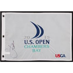 Jordan Spieth Signed 2015 U.S. Open Pin Flag (PSA LOA)