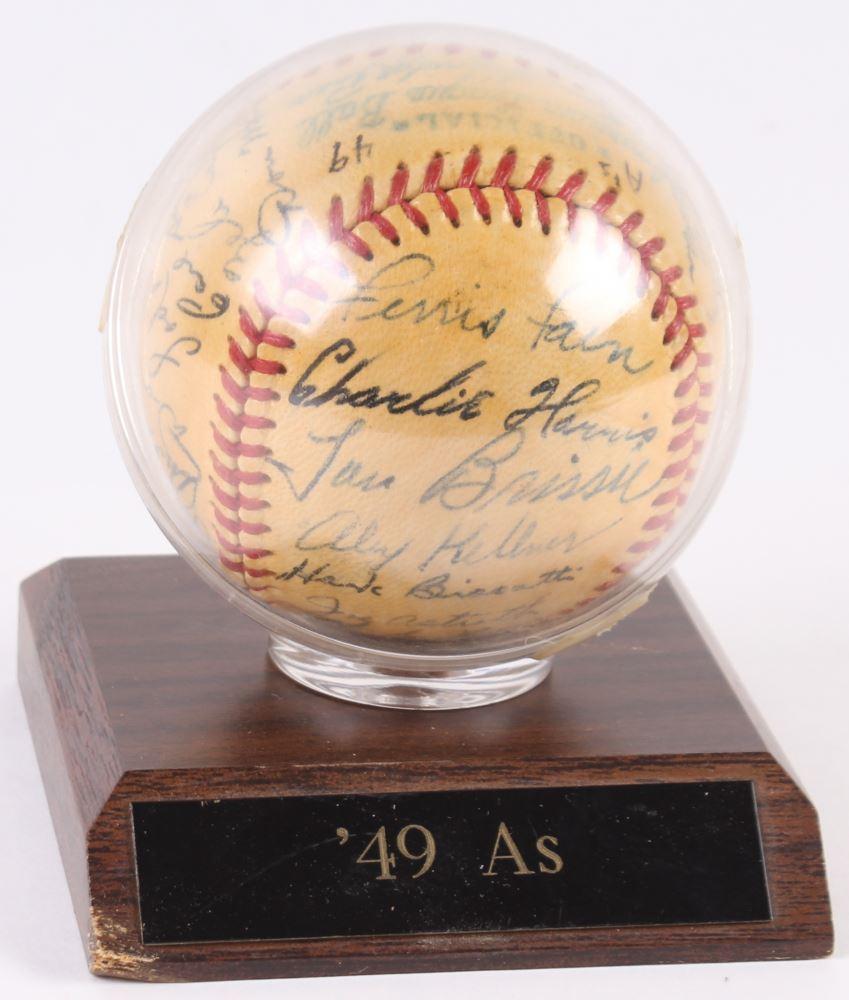 1949 Philadelphia Athletics Oal Baseball Team Signed By 27