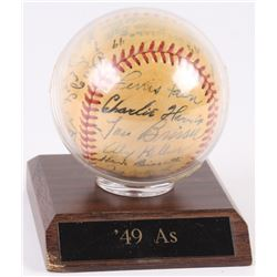 1949 Philadelphia Athletics OAL Baseball Team-Signed by (27) With Lou Brissie, Jimmy Dykes, Ferris F