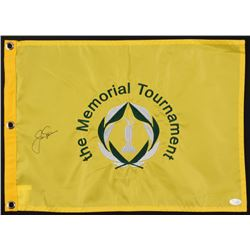 Jack Nicklaus Signed The Memorial Tournament Pin Flag (JSA LOA)