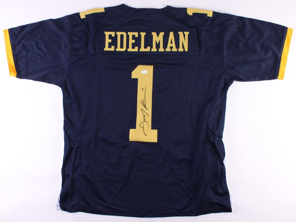 san francisco 6b925 67347 Julian Edelman Signed Kent State Golden Flashes Jersey ...