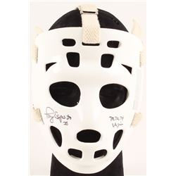 "Tony Esposito Signed Full-Size Throwback Goalie Mask Inscribed ""70, 72, 74 Vezina"" (Schwartz Hologra"
