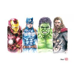 Thang Nguyen - The Avengers 8x12 Signed Limited Edition Giclee on Fine Art Paper #/50